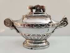 Vintage Working Silver Tone Genie Alladin Table Lighter / Made in JAPAN  1803.40