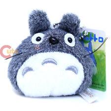 "Studio Ghibli My Neighbor Gray Totoro Mini Plush Doll Key Chain 3.5"" Phone Charm"