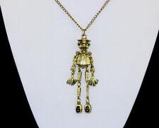 Hot Arrival Fashion Cute Bronze Metal Long Nose Scarecrow Pendant Necklace