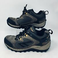 Hi Tec Waterproof Tan Gray Hiking Trail Shoes Mens 7.5 Lace Up Leather Outdoor