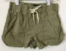 Hudson Girls Shorts Pull On Khaki Green Small/ Medium Frayed