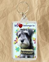Miniature Schnauzer Keyring Dog Key Ring Dog Gift Xmas Gift Mothers Day Gift