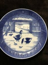 Royal Copenhage Plate 1969 In The Old Farmyard