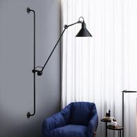 Retro Adjustable Long Arm Wall Sconce LED Lamp Fixture Bedroom Bedside Light USA