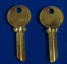 TWO KEY BLANKS FIT MEDECO LOCKS 5ME1 LEVEL 1 5-PIN BRASS 1515