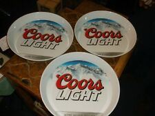 3 Coors Light Siver Bullet Beer Tray, Melamineware,very good condition
