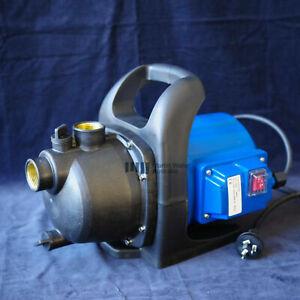Water Pump High Pressure Stage Jet Rain Tank Pond Garden Irrigation 3000L/H800W