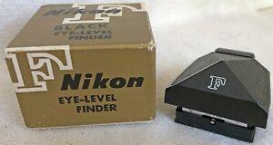 BLACK NIKON F Eye Level Finder with Original Box
