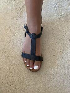 Sportsgirl Sandal Strappy Leather Shoe Size 6 Woman