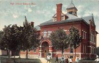 C97/ Davison Michigan Mi Postcard 1908 High School Students