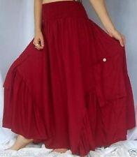 Rayon Peasant, Boho Long Plus Size Skirts for Women