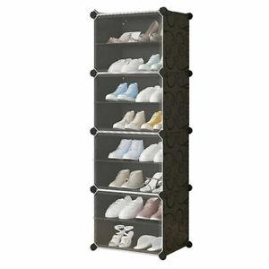 Large 8-Cube DIY Shoes Rack Portable Interlocking Plastic Cabinet Storage
