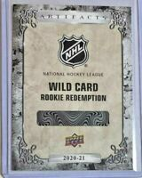 Wild card Rookie redemption #214 2020-21 Upper Deck Artifacts #/999 Olli Juolevi