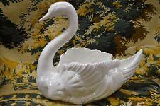 Large Italian Mid Century Ceramic Swan Planter