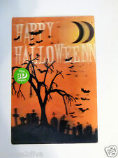"""HALLOWEEN 3D LENTICULAR 4"""" X 6"""" TABLETOP PICTURE W/EASEL FREE USA SHIP NEW"""