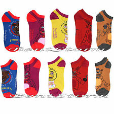 Five Nights At Freddy's 5 Pairs Mix And Match No Show Ankle Socks Ladies 9-11