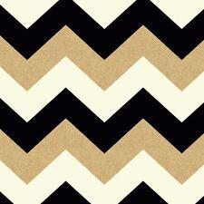 Famosos Blanco Negro Brillo Dorado Chevron Papel Pintado - Arthouse 892300