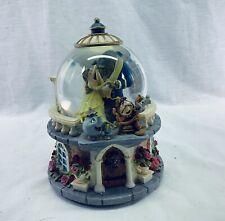 Disney Beauty and the Beast Musical Snowglobe Rose Garden