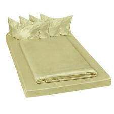 Juego ropa de cama satinada poliéster sábana bajera edredón funda 200x150 verde