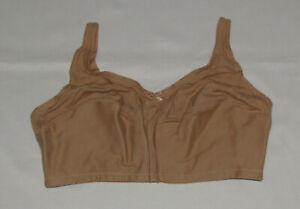 44DD Nude Bra Comfort Choice New Cotton Bow Womens Plus Size Wireless