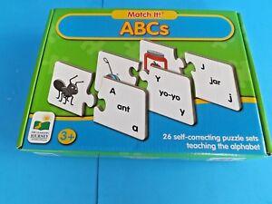 FLOOR PUZZLES~ 2-CHILDREN's 2' x 3'~ABC's=MATCH-IT & MY FAVORITE PETS