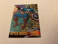 CAPTAIN AMERICA Marvel Vs. DC PROMO Card #2 DC Comics - 1995!