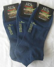 3x par Harmony zapatillas de deporte hombre Bambú calcetines transpirable 39-42