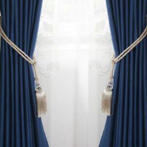 New Crystal Beaded Tassel Curtain Tieback Decorative Home Cord Buckle Rope Room