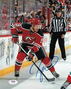 Taylor Hall signed 8x10 photo PSA/DNA New Jersey Devils Autographed