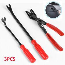 3PCS Car Door Panel Clip Pliers Trim Removal Fastener Puller Repair Tool Kit US