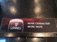 Large Guinness Bar Beer Runner Mat Rubber backed MORE CHARACTER MORE TASTE