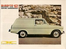 Autocars Sussita 12 Delivery Van 1968 Foldout Sales Brochure In English & French