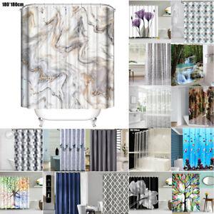 Extra Long Waterproof Shower Curtain Bathtub Bathroom Bath Modern Home Decor UK.