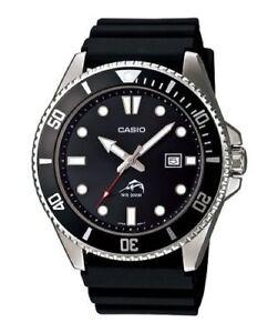 Casio MDV106-1AV, Duro,Men's Black Resin Watch, 200 Meter WR, Anti-Reverse Bezel