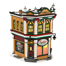 Dept 56 Snow Village SOPHIA'S PIZZERIA New 2013 #4030737 BNIB