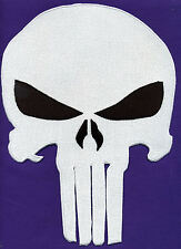 """Punisher  Extra Large  8"""" x 11""""  Fully Embroidered Skull Patch: Choice of colors"""