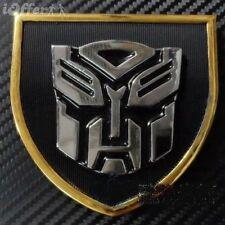 Car Front Grille Fender Metal Emblem Badge Transformers Silver Autobot Black