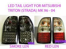 LED TAIL LIGHT REAR LAMP FOR MITSUBISHI TRITON STRADA L200 MK SMOKE RED 96-04