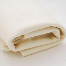 100% Wool Felt Fabric - 1mm Thick - Made in Europe - Light Cream - 1/2m x 1.6m