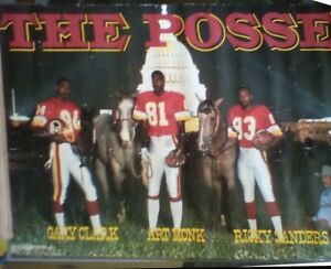 "Washington Redskins ""The Posse"" Poster 1980's Costacos Bros Monk Sanders Clark"