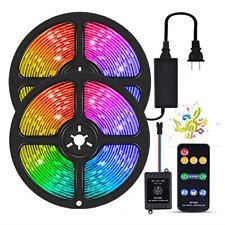 YORMICK LED Strip Lights, 10m/32.8ft Dream Color Led Strip Sync to Music SMD RF