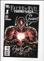 FACES OF EVIL PROMETHEUS #1 Signed STERLING GATES AUTO COVER ~ more listed NM