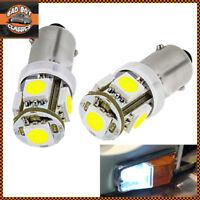 x2 12V NON POLARITY BA9S LED GLB233 GLB989 Sidelight Bulbs White Classic Car