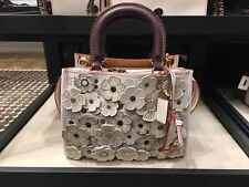 100% auth COACH 1941 ROGUE 25 pebble leather with tea rose applique (Brand new)