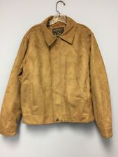 Reportage R.G.A Italy Style Brown Suede Bomber Jacket