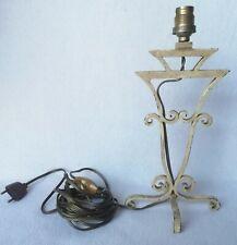 Ancien pied de lampe en métal ( fer ) vers 1950 ? peinture et état d'origine