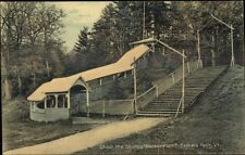 Bellows Falls VT Shoot the Chute Barber Park Amusement Ride Postcard c1910