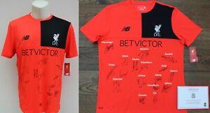 2016-17 Liverpool Shirt Squad Signed inc Klopp, Mane, Wijnaldum & Milner (21169)