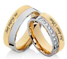 Eheringe Trauringe Verlobungsringe mit Zirkonia Partnerringe Lasergravur L083