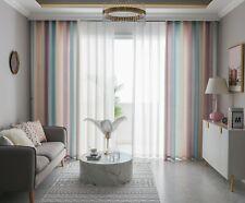 """2 Panels Linen Gradient Window Curtains Drapes Grommet 84"""", 95"""" Summer Deco"""